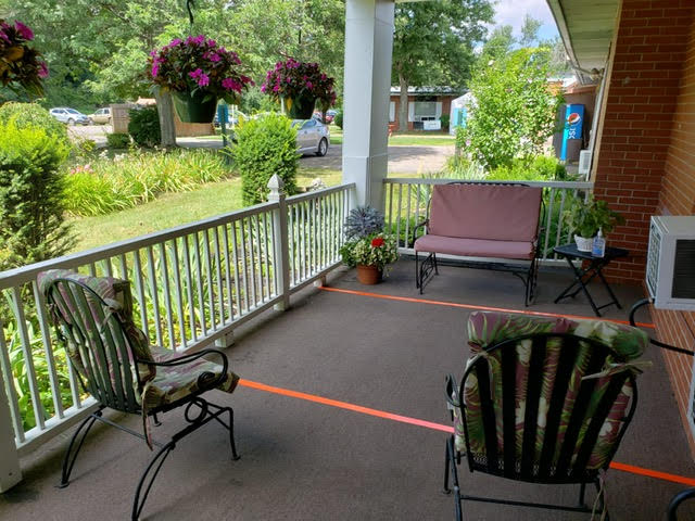 Visitation Area outside of Highland Park Rehabilitation
