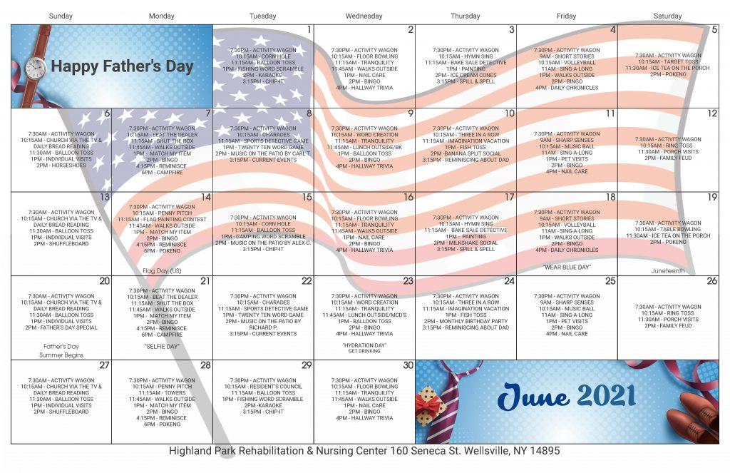 Highland Park June 2021 Event Calendar